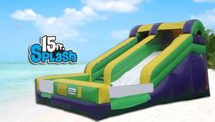 15ft Splash Water Slide
